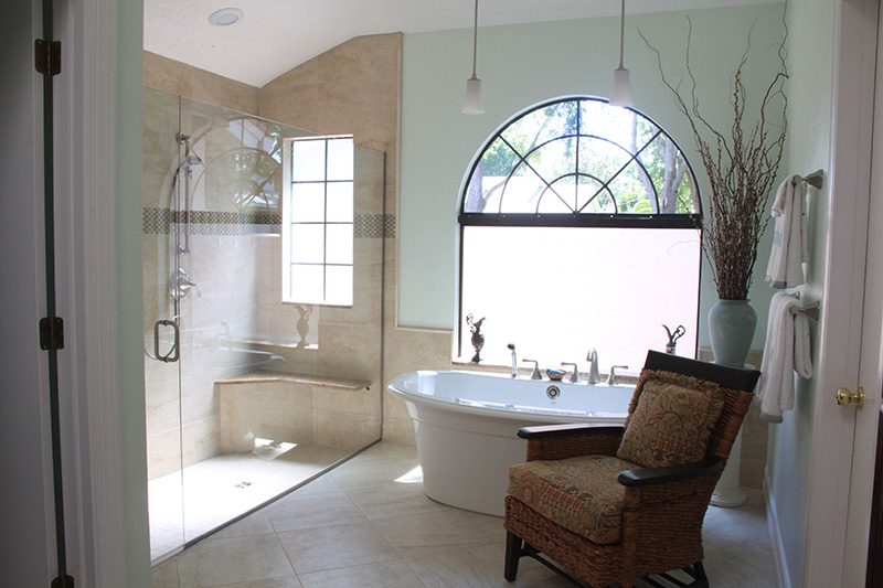 Bathroom Remodel in Palm Harbor - Bognoloa Project 2 - Golden Construction
